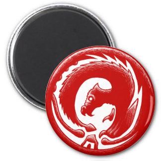 Dragon Circle Red Magnet