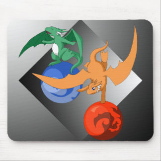 Dragon Circus Gray Mousepad