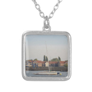 Dragon Class Keelboat Racer Silver Plated Necklace