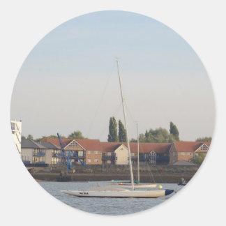 Dragon Class Keelboat Racer Classic Round Sticker