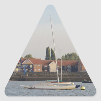 Dragon Class Keelboat Racer Triangle Sticker