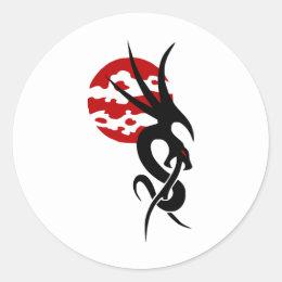 Dragon Classic Round Sticker