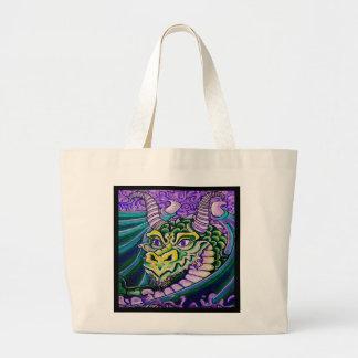 dragon close up (square) canvas bag