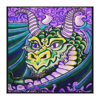 dragon close up (square) canvas