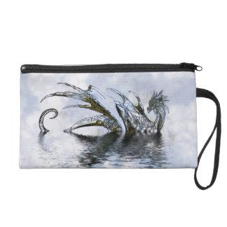 Dragon Clouds Blue Sky Grunge Purse Wristlet Clutch