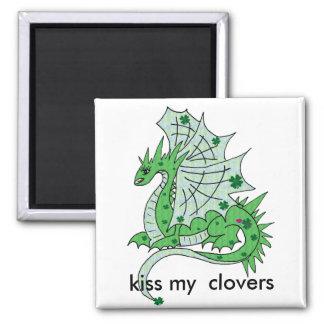 Dragon clover magnet