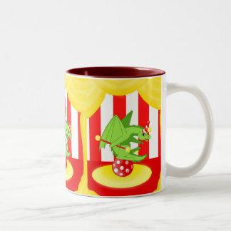 Dragon Clowne Two-Tone Coffee Mug