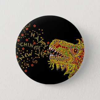 Dragon CNY Chinese New Year Button