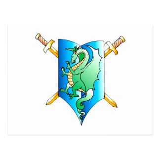 Dragon coat of arms dragon coat OF of arm Postcard