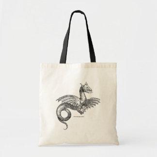 Dragón con alas de Historiæ Serpentum y de Draconu