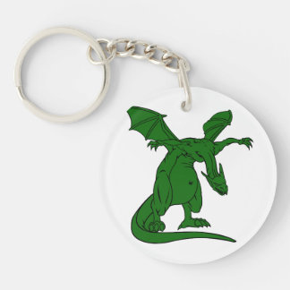 dragón con alas green.png del medio de la situació llavero redondo acrílico a doble cara