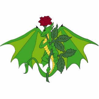 Dragón con el rosa fotoescultura vertical