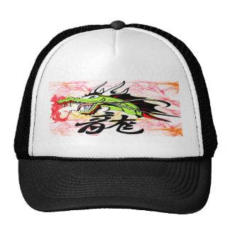 Dragón con kanji gorros