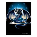 Dragón con la espada tarjeta postal