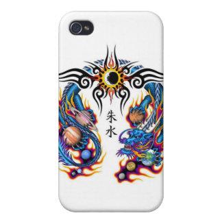 Dragón con los planetas iPhone 4/4S carcasa
