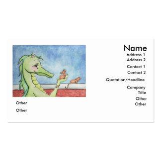 Dragón con los ratones tarjetas de visita