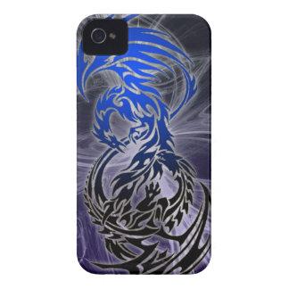 dragón CONTRA el caso del iphone de Phoenix Case-Mate iPhone 4 Carcasa