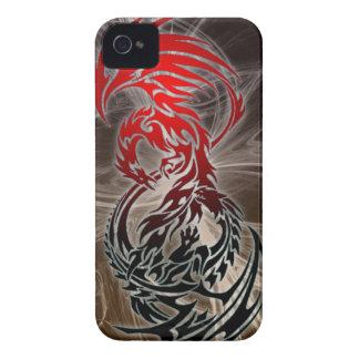 dragón CONTRA el caso del iphone de Phoenix Case-Mate iPhone 4 Protector