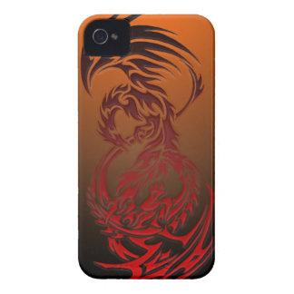dragón CONTRA el caso del iphone de Phoenix iPhone 4 Case-Mate Fundas