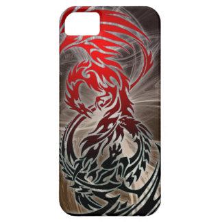 dragón CONTRA el caso del iphone de Phoenix iPhone 5 Carcasa