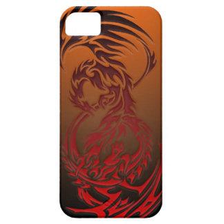 dragón CONTRA el caso del iphone de Phoenix iPhone 5 Carcasas