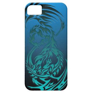 dragón CONTRA el caso tribal del iphone de Phoenix iPhone 5 Carcasas