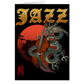 Dragon contrabass2 greeting cards