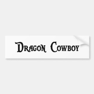 Dragon Cowboy Bumper Sticker Car Bumper Sticker