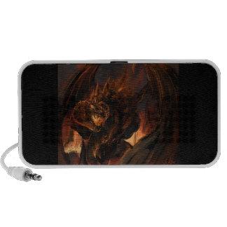 Dragón creado de las llamas laptop altavoz