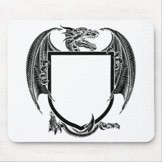 Dragon Crest Coat of Arms Heraldic Emblem Shield Mouse Pad