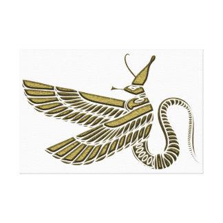Dragón - criatura de Egipto antiguo Lona Envuelta Para Galerias