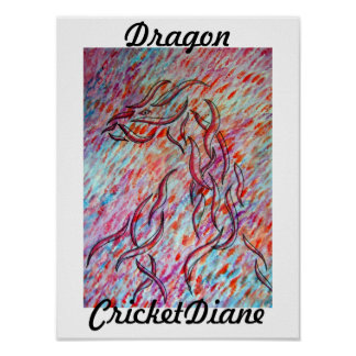 Dragon - CricketDiane Ribbon Animals Series 2011 Poster