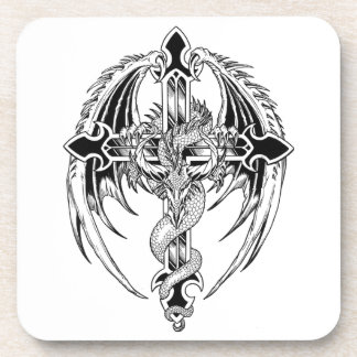Dragon cross-country race drink coaster
