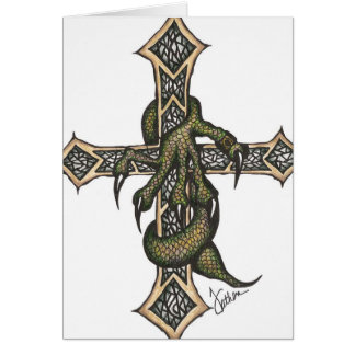 Dragon Cross in Color Card