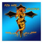 Dragon - Cross Invitation