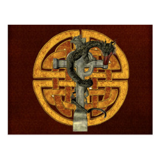 Dragon Cross Postcard