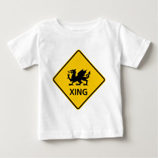 Dragon Crossing Highway Sign Baby T-Shirt
