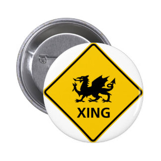 Dragon Crossing Highway Sign Button