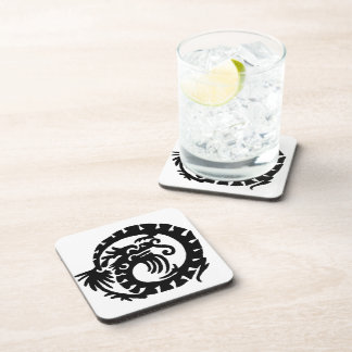 Dragon Curled into a  Circle Beverage Coaster