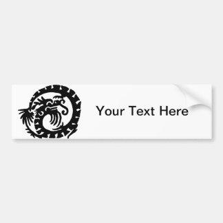 Dragon Curled into a  Circle Bumper Sticker