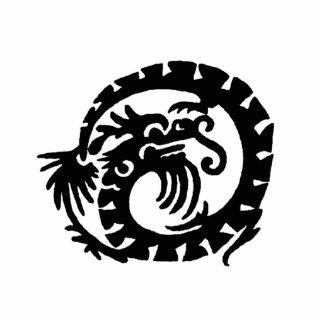 Dragon Curled into a  Circle Cutout