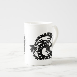 Dragon Curled into a  Circle Tea Cup