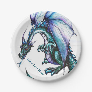 Dragon Custom Design Paper Plates 7""
