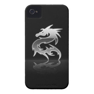 Dragón de acero iPhone 4 carcasa
