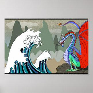 Dragón de agua asiático 12 x poster 8