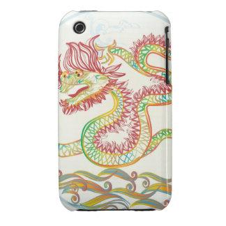 dragón de agua elegante por los 2012 Años Nuevos c Case-Mate iPhone 3 Cárcasas