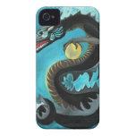 Dragón de agua negro iPhone 4 carcasa