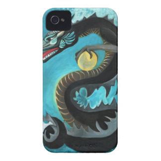 Dragón de agua negro iPhone 4 Case-Mate carcasas