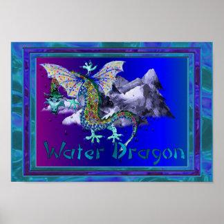 Dragón de agua poster