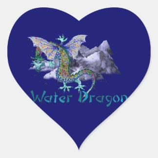 Dragón de agua colcomanias corazon